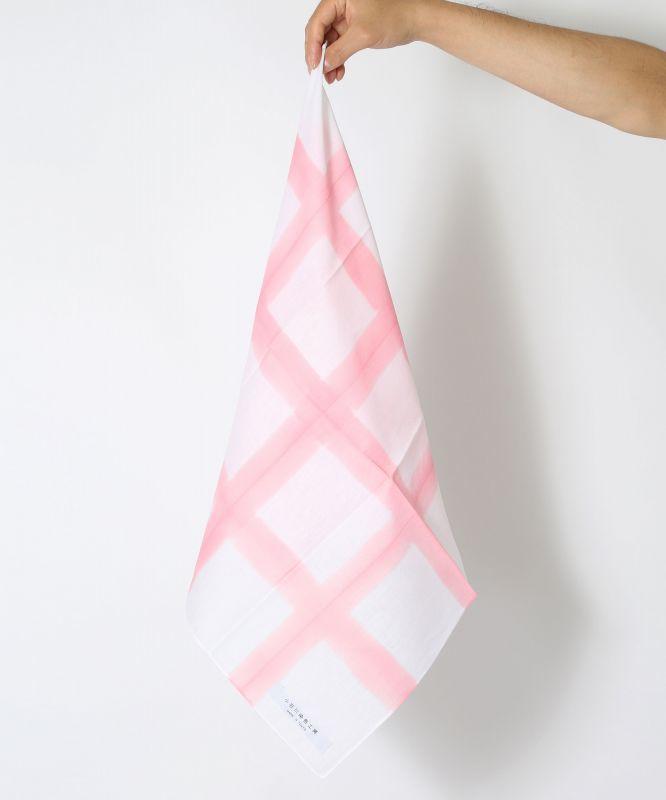 画像1: 板締染 BAN-SHIKI 格子型ピンク (1)