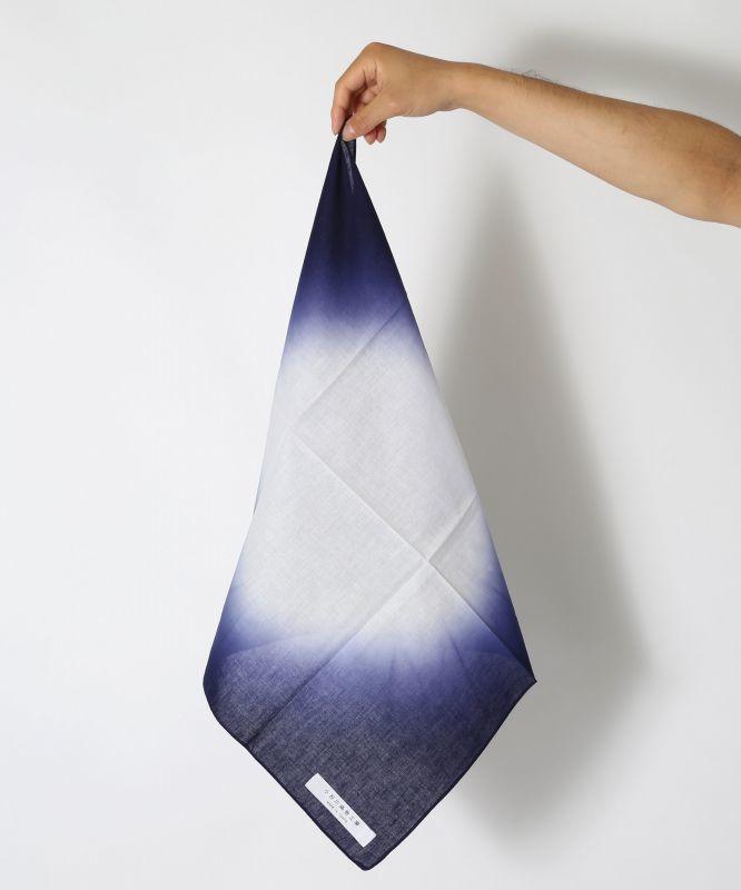 画像1: 板締染 BAN-SHIKI グラデーション型紺 (1)